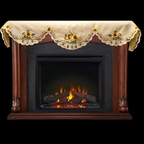new sunflower mantle scarf fireplace